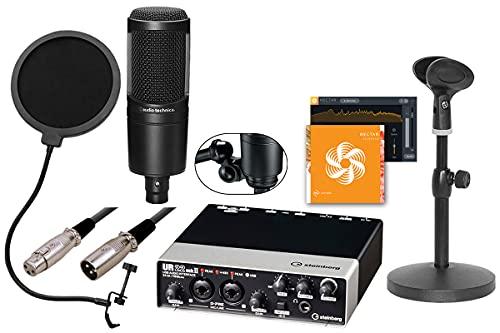 STEINBERG / UR22MK2 AT2020配信DAWセット -3mマイクケーブル、ポップブロッカー、卓上マイクスタンド-【iZotope Nectar 3 Elementsボーカル用プラグインライセンス付】