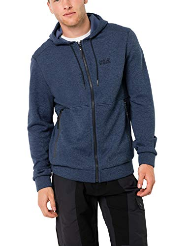 Jack Wolfskin Herren Finley Hooded Jacket M Warme Fleecejacke, Night Blue, L