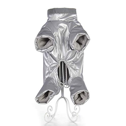 Feidaeu Ropa para Mascotas Reflectante cálido paño Grueso y Suave Impermeable Suave, cómodo, Transpirable y Durable Mono Chaqueta de la Capa del Perro