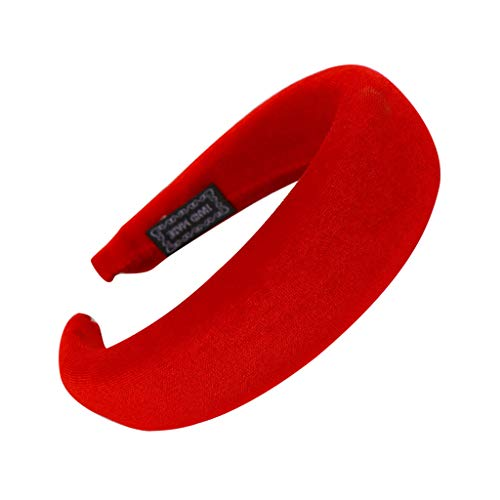 YWLINK Mode Samt Sport Haarband Volltonfarbe Damen Haar Kopfband Einfache SüßE MäDchen Stirnband(A Rot,)