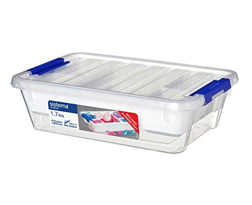 Contenedor, Polipropileno, con Bandeja, Plástico, Transparente, 1.7 litros