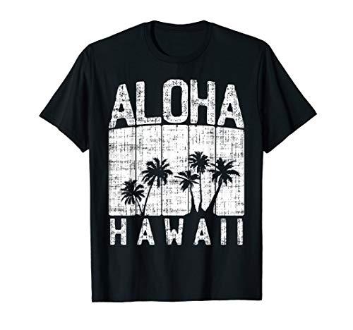 Aloha Hawaii Retro Hawaiian Beach Summer Vacation Gift T-Shirt