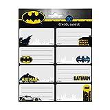 Grupo Erik Etiquetas adhesivas Batman - Pegatinas libro nombres/Pack etiquetas escolares - Producto con licencia oficial