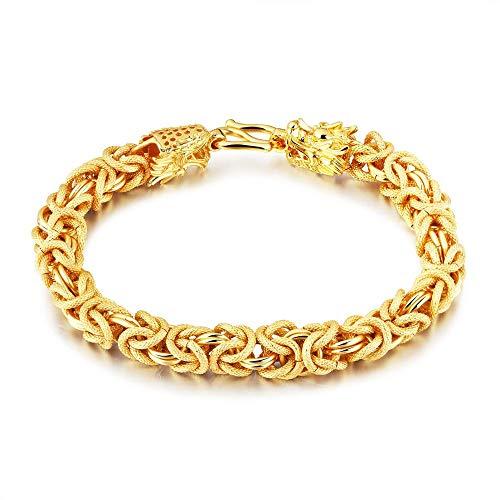 Nobrand Gold Armbänder Für Männer Prägnante Mode Fortune Auspicious Special Dragon Armband Designs Handgelenk Schmuck Für Männer 21,5 cm