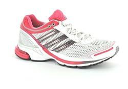 Adidas Women's Running Shoes SNova Glide 3 W U44122 (45 1 / 3, Runwht / Blcsil / Frepnk)
