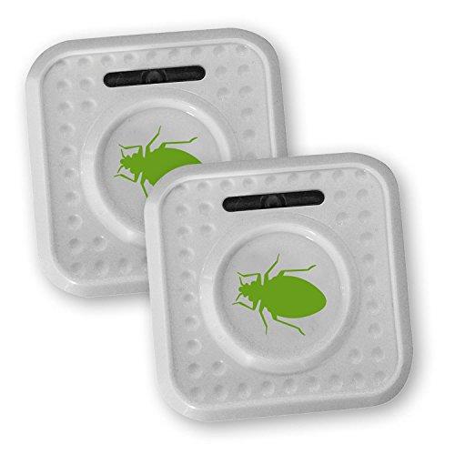 ISOTRONIC® Prise insectifuge contre les Punaises de lit et les Acariens, alimenté par Batterie. Prise Anti-acariens à Ultrason contre Insectes, et les Punaises de lit , 2 pièces