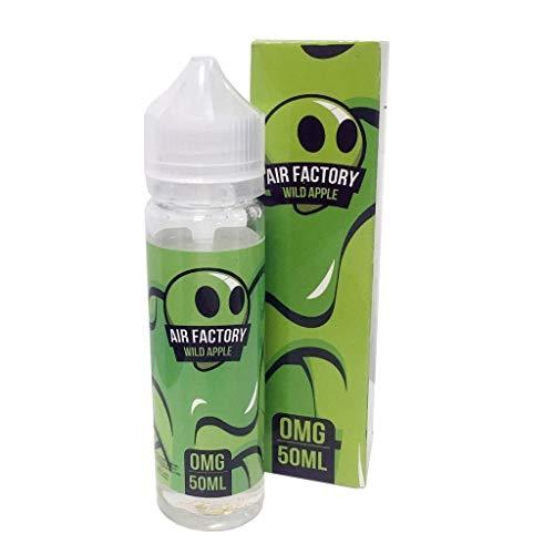 Air Factory Vape Juice 0MG 50ML Premium USA E Liquid All Flavours Blueberry Raspberry Strawberry (Wild Apple)