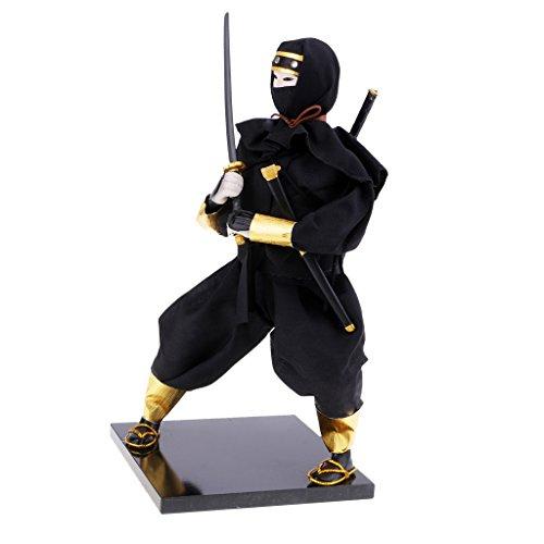 Bambole Giapponesi Guerriero Ornamenti Ninja 12'' Bambole Samurai Regali Decor Ornamenti - 2