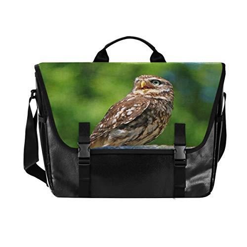 FANTAZIO Crying Baby Owl Laptop Bag for 15.6' Laptop Briefcase Water-Repellent Computer Bag Messenger Bag Business Shoulder Bookbag