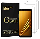 ivoler [3 Unidades] Protector de Pantalla Compatible con Samsung Galaxy A8 2018, Cristal Vidrio Templado Premium [Dureza 9H] [Anti-Arañazos] [Sin Burbujas]