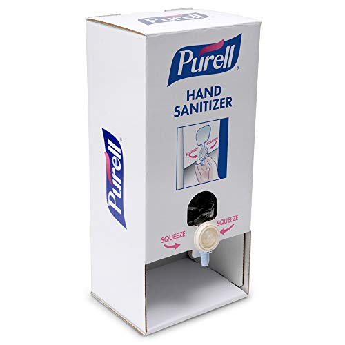PURELL Quick Tabletop Stand Kit, Push-Style Corrugated Tabletop Stand and 2 PURELL NXT Hand Sanitizer Refills (Pack of 1) - 2156-02-TTS