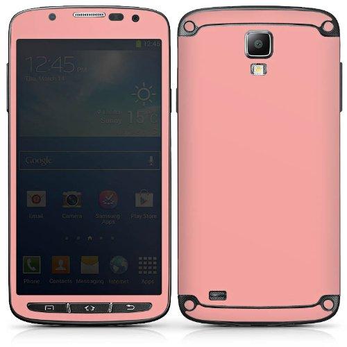 DeinDesign Folie kompatibel mit Samsung Galaxy S4 Active Aufkleber Skin aus Vinyl-Folie einfarbig Lachsfarben Thermomixmotive