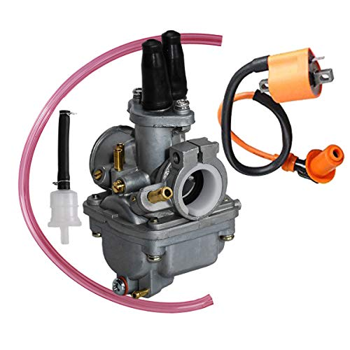 SaferCCTV Replacement Carburetor with Ignition Coil Compatible with Yamaha PW80 PW 80 Y Zinger Dirt Bike 1987-2006