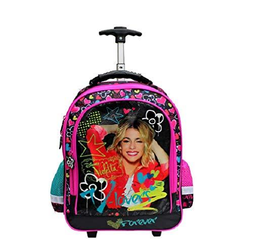 Disney Violetta Trolley-RucksackTrolly Kinder Trolley Schulrucksack Kinderrucksack auf Rädern 41 x 25 x 17 cm Koffer Mädchen Teenager