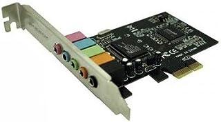 Approx APPPCIE51 - Tarjeta de Sonido 32bit PCI-E 5.1, Color Plateado y Verde