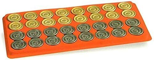 Metal Backgammon Checkers by Cambor Games