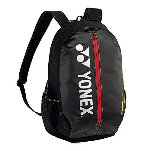 Yonex 42012 S Rucksack, für Badminton/Tennisschläger, Schwarz / Gelb