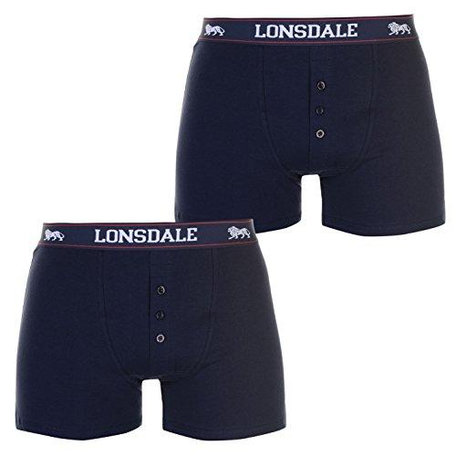 Lonsdale Herren-Boxershorts, elastisch, 2 Stück Gr. XXL, navy