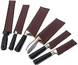 QEES Funda de cuero para cuchillos de cocina, 6 piezas, fundas para cuchillos de cocina, protectores...