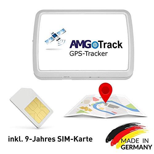 AMG Sicherheitstechnik GPS Langzeit Tracker mit 9 Jahres SIM-Karte, kein Vertrag, keine Folgekosten