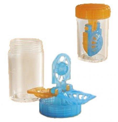 Kontaktlinsenbehälter für weiche Kontaktlinsen mit Körbchen