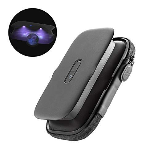 UV-Handy-Desinfektionsmittel, Tragbare Smartphone-Sterilisatorbox, LED Ultraviolettreiniger, Faltbar, Wiederaufladbar, aushaltsdesinfektion für Zahnbürste Schmuck Uhrenschlüssel etc,A