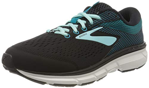 Brooks Women Dyad 10 Running Shoes, Black/Island/Capri, 6.5 B US