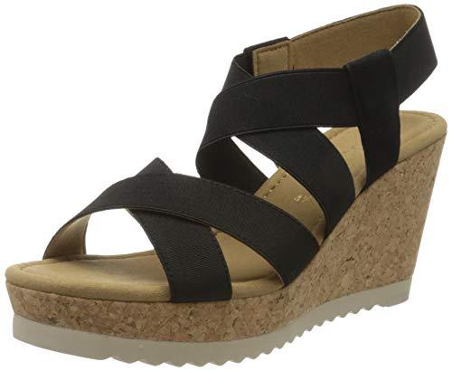 Gabor Shoes Damen Basic' Riemchensandalen, Schwarz (Schwarz 17), 42 EU