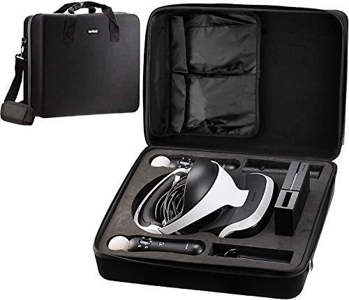 Navitech Noir dur transporter sac   housse   couverture avec bandoulière pour le PlayStation VR   PSVR (ZVR1   CUH-ZVR2)