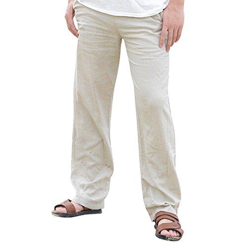 semen Herren Freizeithosen Leinenhose Baggy Baumwolle Leinen Luftige Bequeme Strand Lässig Lange Hosen …