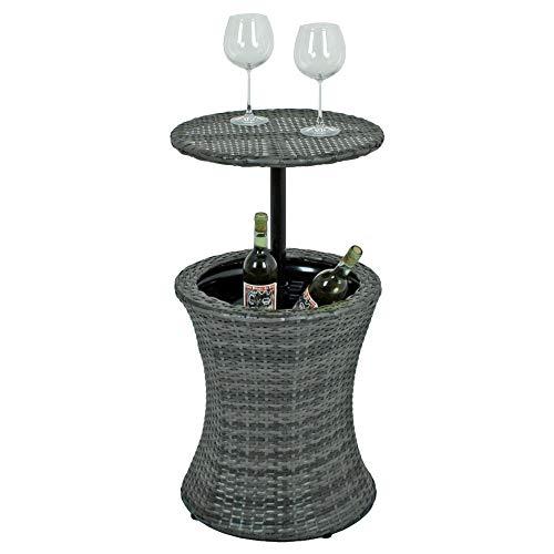etc-shop Bistrot Stand-up Table Rattan Drink Cooler Party mobili da Giardino Regolabile