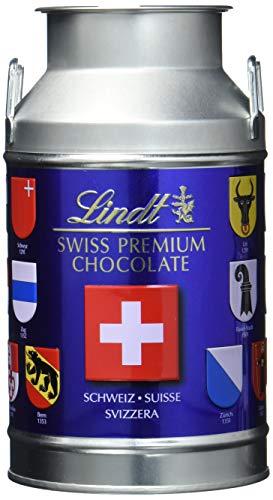 Lindt Swiss Naps Milchkanne, Kantonswappen Edition, gefüllt mit feinsten Milch und Milch-Nuss Napolitains, 63 x Schokoladentäfelchen, 1er Pack (1 x 350 g)