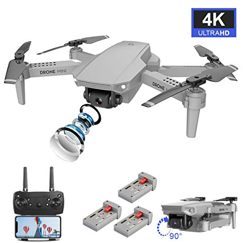 avis drone fpv professionnel WiFi FPV Drone double caméra 4K vidéo en direct 110 ° grand angle 4 canaux 6 axes pliable RC Gyroscope…