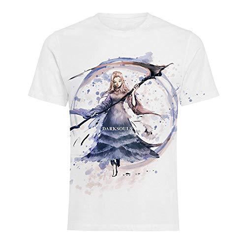 MWMMWLH T-Shirt,Uomo Stampato in 3D Manica Corta Magliette Casual Dark Souls Anime Cosplay Magliette Magliette A Colori 5XL