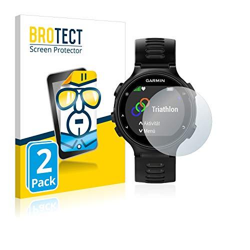 BROTECT Protector Pantalla Compatible con Garmin Forerunner 735XT Protector Transparente (2 Unidades) Anti-Huellas