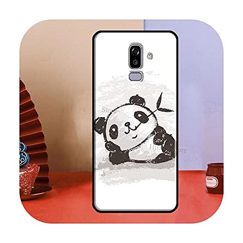 Cute Cartoon Panda para Samsung Galaxy A3 A5 J1 J3 J5 J7 2016 2017 J4 J6 A6 A8 Plus A7 A9 J8 2018 Funda para teléfono CC481-A8 Plus 2018
