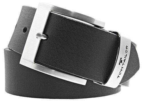 TOM TAILOR herrengürtel ceinture ceinture pour homme en cuir avec ceinture en cuir noir 40 mm