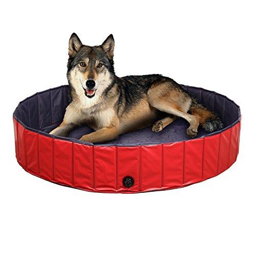 Femor Pool voor honden, 80 cm x 20 cm, opvouwbaar, voor zwembad, bad voor honden / katten