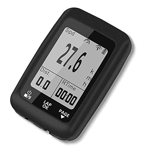 WCJ Fahrradcomputer Wireless, Fahrrad-Geschwindigkeitsmesser mit Hintergrundbeleuchtung Großer LCD-Display und automatischen Wake-up for Tracking-Riding Speed Track Entfernung