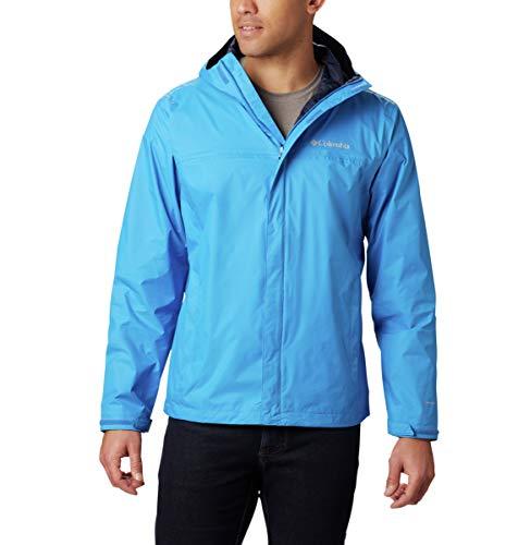Columbia Men's Watertight II Waterproof, Breathable Rain Jacket, Azure Blue, Large