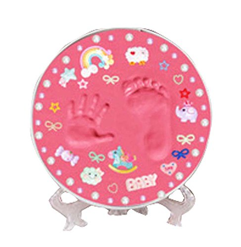 Ensemble d'empreintes digitales Bébé 0-10 ans Mains et pieds encre, boîte ronde