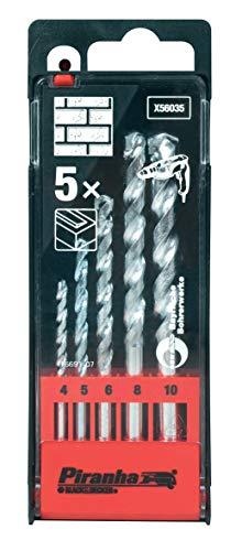 Stanley Black & Decker 8014211087806 Piranha X56035 Cassette 5 Galvanised Tips, Multi-Coloured