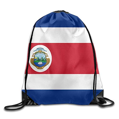 Setyserytu Sporttasche mit Kordelzug, Sportrucksack, Reiserucksack, Flag of Costa Rica Personalized Gym Drawstring Bags Travel Backpack Tote School Rucksack