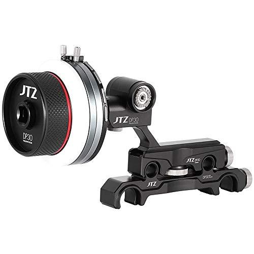 Foto4easy JTZ DP30 Cine Follow Focus with 15mm/19mm Rail Rod Clamp Sytem KIT for FS5 FS7 A7M2 A7 A7R A7S A9 C100 C300 C500 Blackmagic URSA Mini BMCC BMPCC 4K 6K ARRI Lens Video Cinema DSLR Cameras