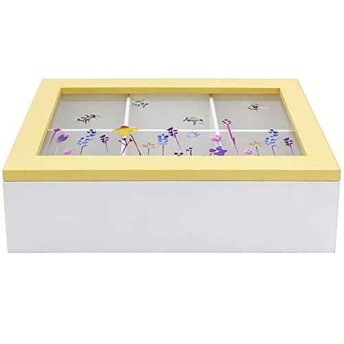 Accesorios Abeja 6 Compartimento Té Bolso Caja Cajita Cocina Bolsas de Té