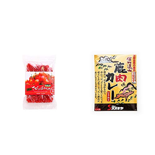 [2点セット] 収穫の朝 さくらんぼグラッセ ラム酒風味(180g)・信州遠山 鹿肉カレー 中辛 (1食分)