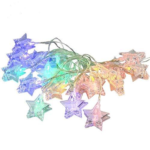 Kreative fünfzackigen stern foto clip stern lichterkette kupferdraht lichterketten Weihnachtsbibliothek layout dekorative nachtlicht warmweiß 3M20 lampe