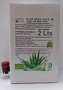 Puro Jugo de Aloe Vera - 100% natural y orgánico. 2 Litros familiar
