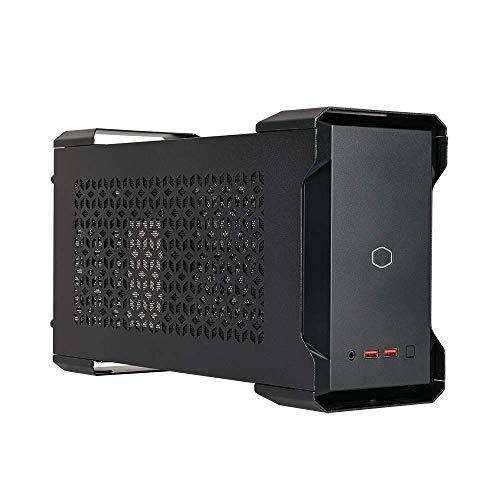 Cooler Master MasterCase NC100 boitier PC - compatible NUC 9 Extreme Compute Element, personnalisation des composants, alimentation SFX V650 80-PLUS Gold & 2 ventilateurs 92mm préinstallés - noir