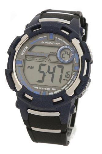 Dunlop Reloj Digital para Hombre de Cuarzo con Correa en Caucho DUN-76-G03